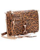 Rebecca Minkoff Tan And Brown Leopard Print Leather 'Mini Mac' Shoulder Bag - Lyst