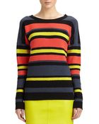 Jason Wu Striped Crochet Sweater - Lyst