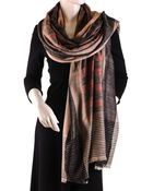 Black.co.uk Ikat Design Cashmere Shawl - Lyst