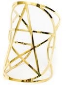 Pamela Love Mini Pentagram Cuff In Brass - Lyst