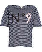 River Island Navy Stripe No 9 Print T-Shirt - Lyst