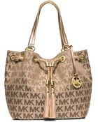 Michael Kors Michael Jet Set Item Large Gathered Tote - Lyst