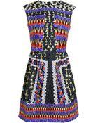 Peter Pilotto Abstract Silk Sleeveless Dress - Lyst