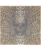Alexander McQueen Brown Classic Leopard Print Silk Scarf - Lyst