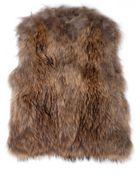 Yves Salomon Knitted Fur Vest - Lyst