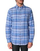 Polo Ralph Lauren Blue Checked Double-Sided Slim Fit Shirt - Lyst