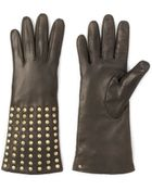 Diane von Furstenberg Studded Leather Gloves - Lyst