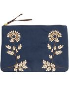 H&M Embroidered Clutch Bag - Lyst
