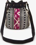 Forever 21 Tribal Pattern Bucket Bag - Lyst