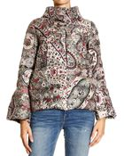 Etro Short Light Down Jacket With Paisley Print - Lyst