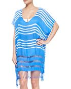 Seafolly Utopia Striped Cutout Caftan Coverup - Lyst