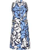 Miu Miu Embellished Dress - Lyst
