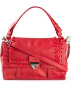 Claudio Orciani Studded Calf-Leather Satchel - Lyst