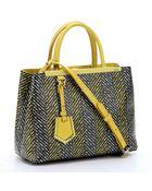 Fendi Lime Chevron Print Spalmati '2Jours' Tote Bag - Lyst