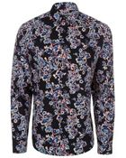 Paul Smith Pink Cactus Flower Print Shirt - Lyst