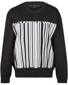 Alexander Wang Black Barcode Logo Jacquard Knit Sweatshirt - Lyst