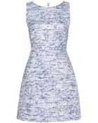 Alice + Olivia Gena Tweed Dress - Lyst