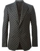 Dolce & Gabbana Polka Dot Print Blazer - Lyst