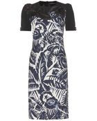 Marc Jacobs Printed Crepe Dress - Lyst