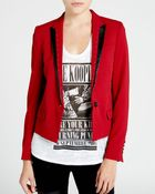 The Kooples Jacket - Leather Trim Cropped - Lyst
