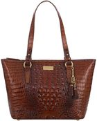 Brahmin Asher Croc Embossed Leather Tote Bag - Lyst