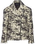 Rag & Bone Monaco Printed Wool-Blend Biker Jacket - Lyst