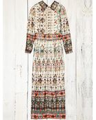 Free People Vintage Metallic Print Dress - Lyst