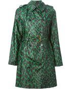 Marc Jacobs Leopard Print Rain Coat - Lyst