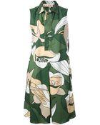 Marni Floral Print Shirt Dress - Lyst