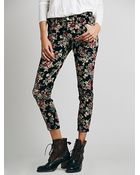 Free People Womens Fp Printed Cord Skinny - Lyst
