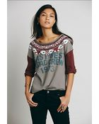 We The Free By Free People Womens Salena Graphic Tee - Lyst