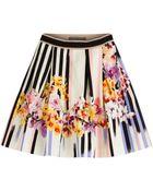 Alberta Ferretti Printed Cotton Skirt - Lyst