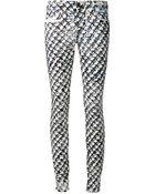 Proenza Schouler J5 Plaid Print Jeans - Lyst