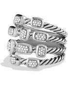 David Yurman Confetti Ring With Diamonds - Lyst