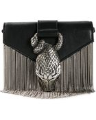 Saint Laurent Python Concho Leather Shoulder Bag - Lyst