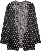 Balmain Printed Silk-Satin Jacket - Lyst
