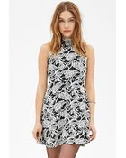 Forever 21 Paisley Fit & Flare Dress - Lyst