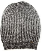 Diesel Slouched Ribbed Knit Beanie - Lyst