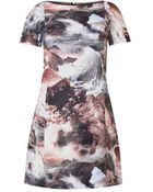 Carven Wave-Print Shift Dress - Lyst