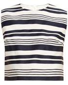 RED Valentino Stripe-Jacquard Sleeveless Top - Lyst
