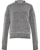 Jil Sander Womens Diamond Stitch Sweater - Lyst