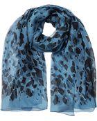 Burberry Printed Silk Chiffon Scarf - Lyst