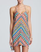 Trina Turk Peruvian Stripe Short Dress Swim Cover Up - Lyst