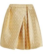 No 21 Speranza Skirt in Gold Brocade - Lyst