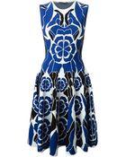 Alexander McQueen Flower Collage Jacquard Dress - Lyst