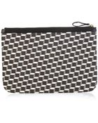 Pierre Hardy Cube-Print Coated-Canvas Pouch - Lyst