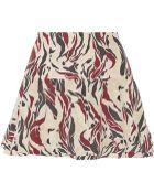 Isabel Marant Satchel Printed Silk Mini Skirt - Lyst