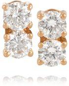 Anita Ko 18-Karat Rose Gold Diamond Earrings - Lyst