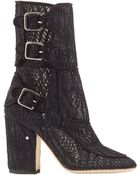 Laurence Dacade Suede Ankle Boots With Macram Lace - Lyst