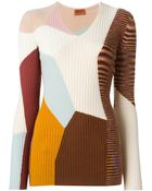Missoni Panelled Sweater - Lyst